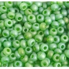 Seedbead 2/0 Transparent Chartreuse Green Aurora Borealis Matt